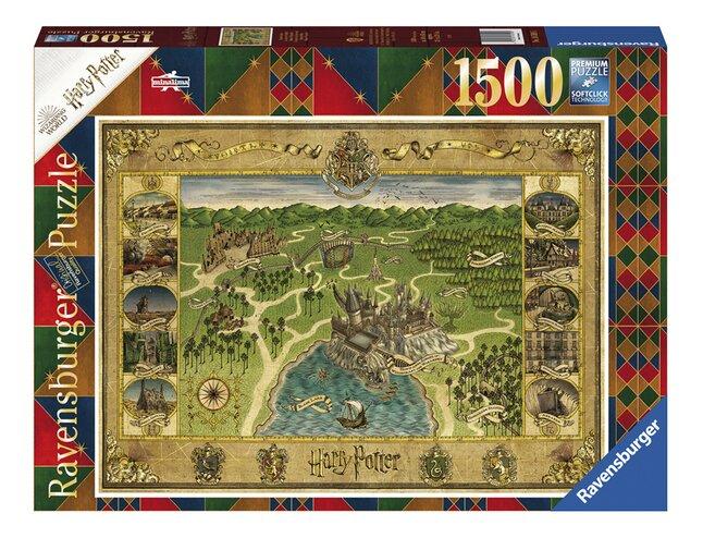 Ravensburger puzzel Harry Potter De kaart van Zweinstein