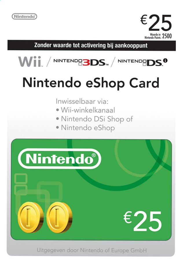 Nintendo eShop Gift Card 25 euro
