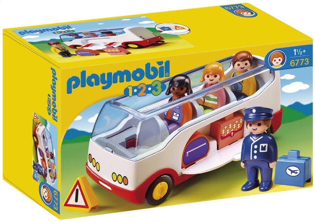 Afbeelding van Playmobil 1.2.3 6773 Autobus from DreamLand