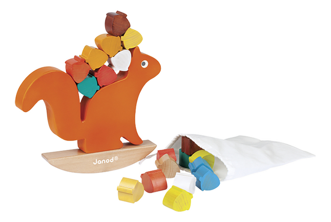 Image pour Janod blocs à empiler/jeu d'équilibre Nutty Balance en bois à partir de DreamLand