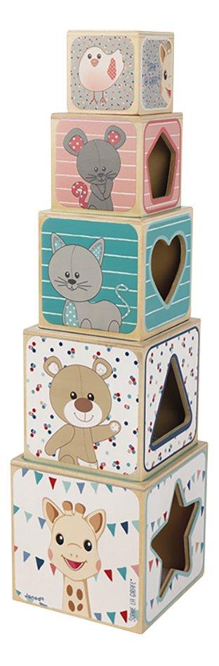 Afbeelding van Janod houten stapeltoren Sophie la Girafe from DreamLand