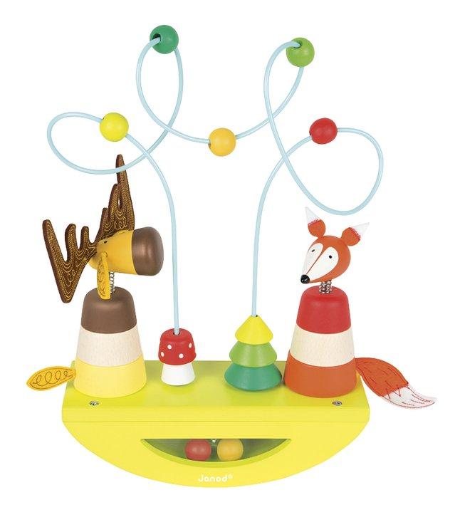 Afbeelding van Janod houten activiteitenspeeltje Basculo Looping Eland & Vos Zigolos from DreamLand