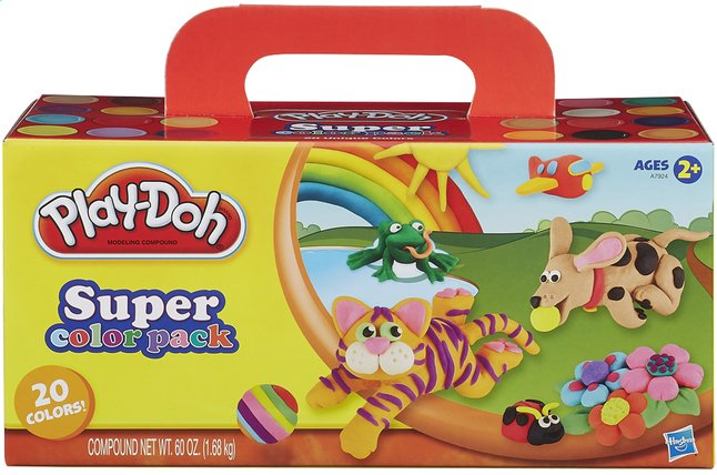 Afbeelding van Play-Doh 20 potjes boetseerklei Super color pack from DreamLand