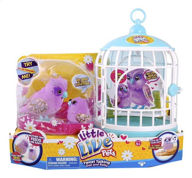 Afbeelding van Little Live Pets Tweet Talking Owl and Baby with Cage from DreamLand