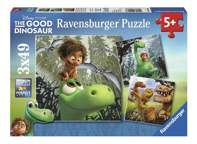 Afbeelding van Ravensburger puzzel 3-in-1 The Good Dinosaur from DreamLand