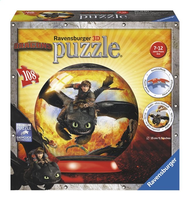Image pour Ravensburger puzzleball Dragons 2 à partir de DreamLand