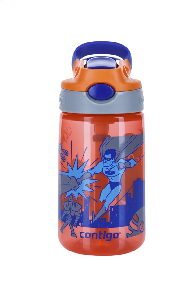 Afbeelding van Contigo drinkfles Gizmo Flip Tangerine W/Superhero 420 ml from DreamLand