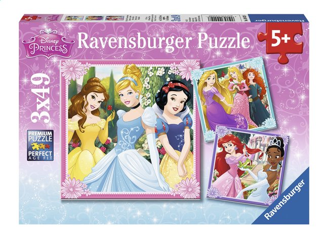 Afbeelding van Ravensburger puzzel 3-in-1 Disney Princess from DreamLand