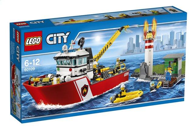 Afbeelding van LEGO City 60109 Brandweerboot from DreamLand