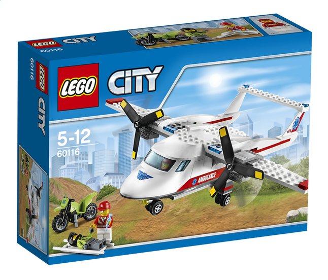 Afbeelding van LEGO City 60116 Ambulancevliegtuig from DreamLand
