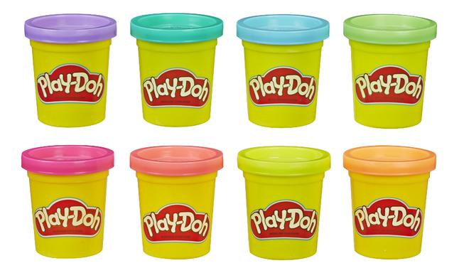 Play-Doh 8 pots arc-en-ciel flashy