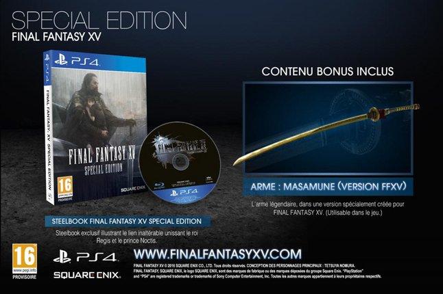 Image pour PS4 Final Fantasy XV Special edition Steelbook FR/ANG à partir de DreamLand