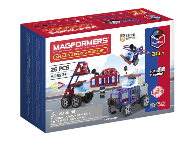 Magformers Amazing Police & Rescue Set 30 in 1