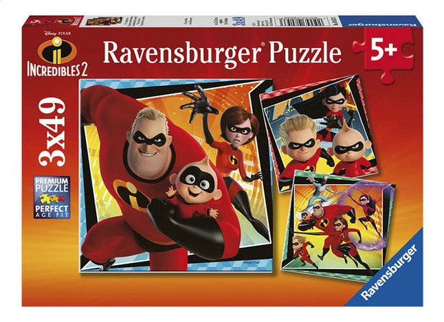 Afbeelding van Ravensburger puzzel 3-in-1 The Incredibles 2 from DreamLand