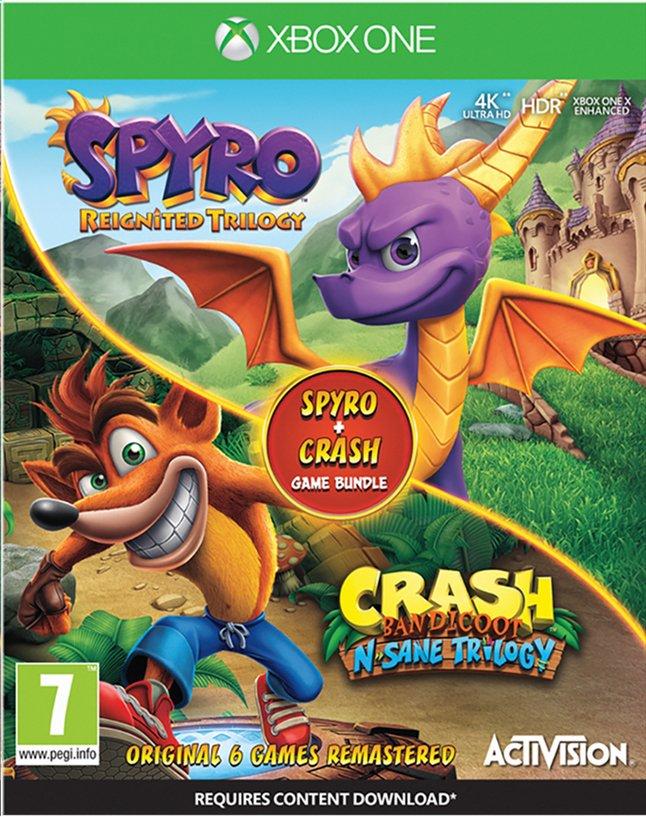 Image pour Xbox One Crash Bandicoot N.Sane Trilogy & Spyro Reignited Bundle ANG à partir de DreamLand