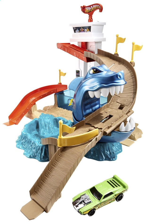 Afbeelding van Hot Wheels speelset Color Shifters Sharkport Showdown from DreamLand