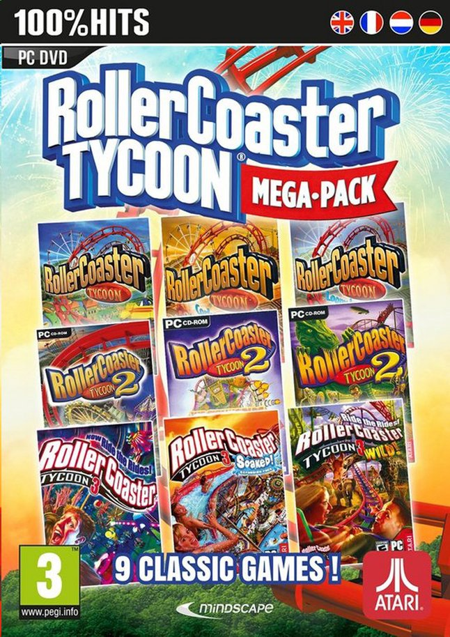 Afbeelding van PC Roller Coaster Tycoon Mega Pack ENG/FR from DreamLand