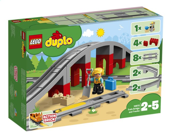 Afbeelding van LEGO DUPLO 10872 Treinbrug en -rails from DreamLand