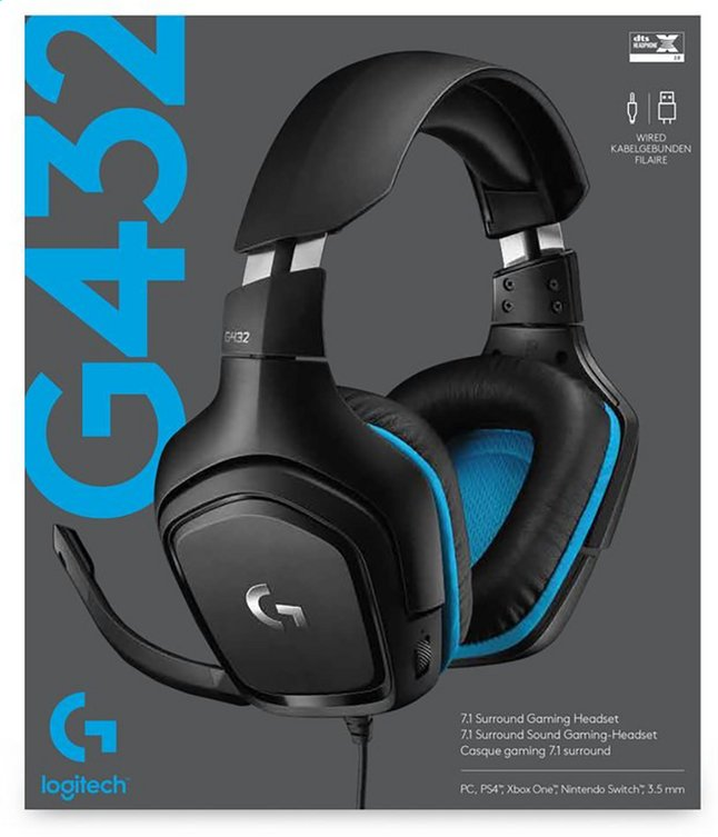 Logitech casque-micro G432 Wired