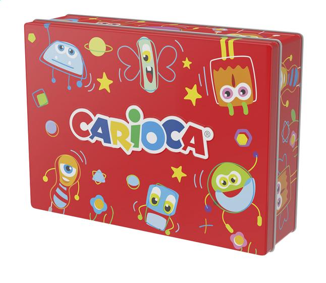 Carioca feutres dans une boîte en métal rouge