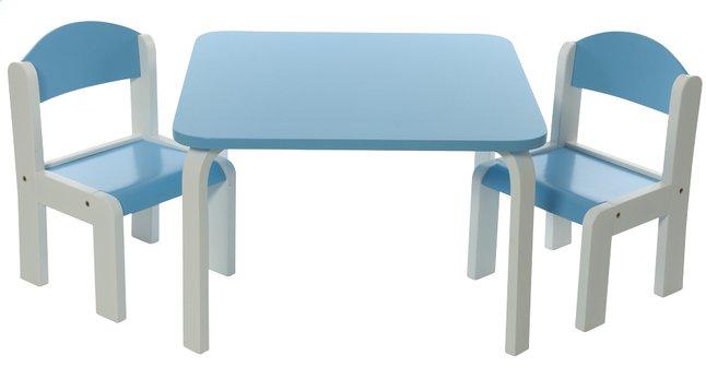 Image pour Table avec 2 chaises Fabio blanc/bleu à partir de DreamLand