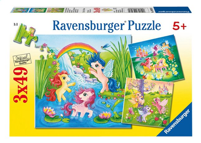 Afbeelding van Ravensburger 3-in-1 puzzel Pony's in sprookjesland from DreamLand