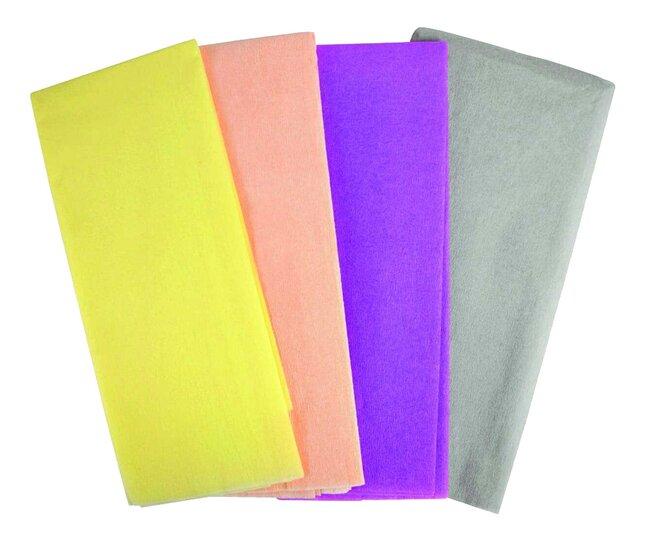 Papier crépon couleurs pastel - 4 pièces