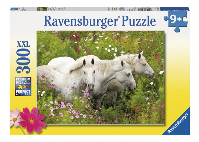 Afbeelding van Ravensburger XXL puzzel Paarden tussen de Bloemen from DreamLand