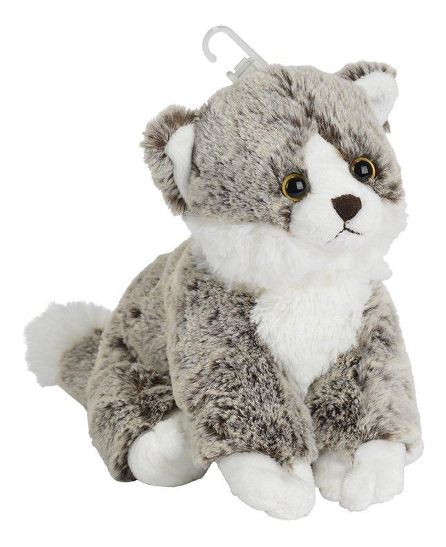 Afbeelding van Nicotoy knuffel zittende kat grijs 23 cm from DreamLand