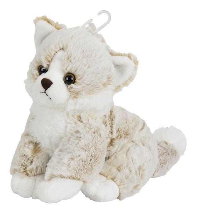 Nicotoy knuffel zittende kat beige 23 cm