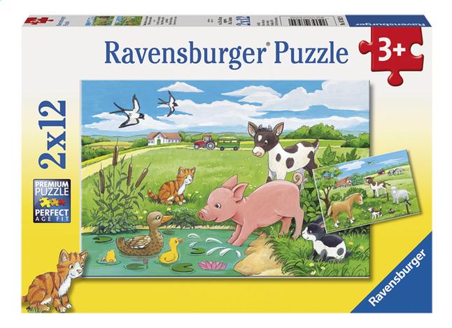 Afbeelding van Ravensburger puzzel 2-in-1 Jonge Dieren op het Platteland from DreamLand
