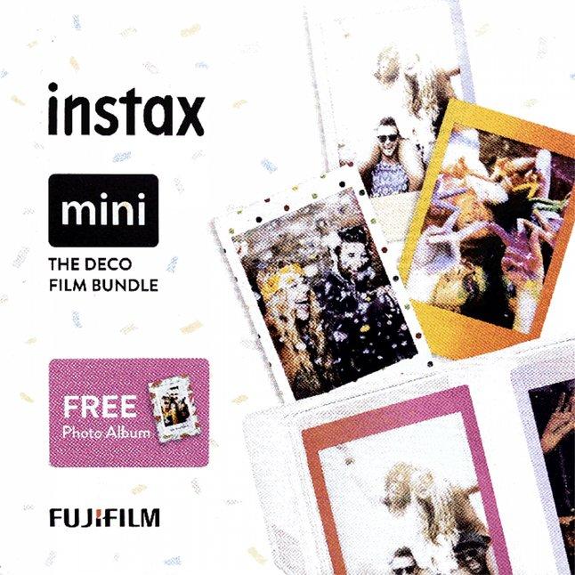 Fujifilm 3 packs de 10 photos The Deco Film Bundle pour instax mini