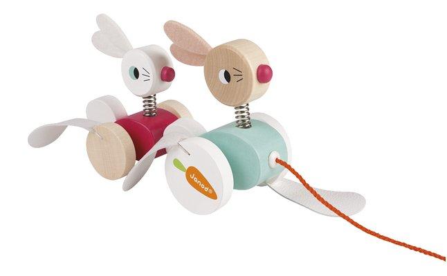 Afbeelding van Janod Houten trekspeeltje konijnen from DreamLand