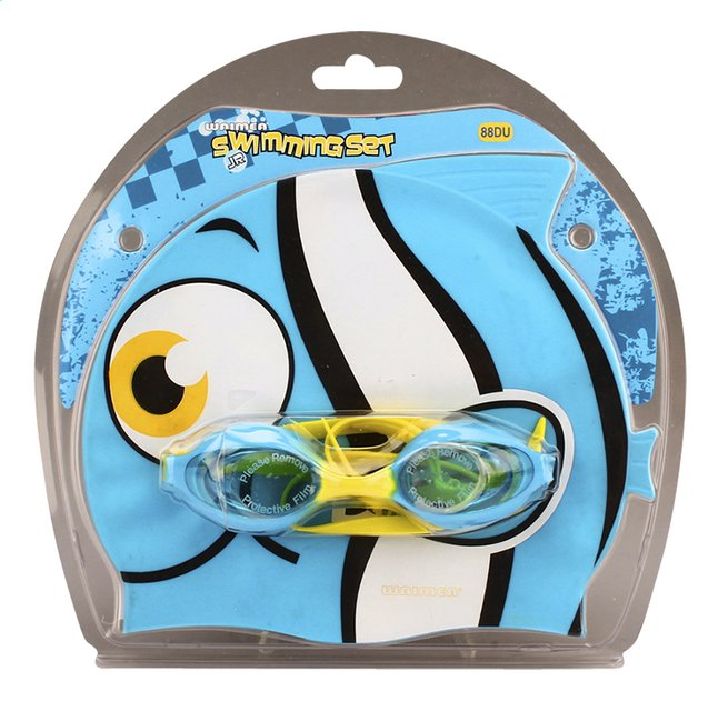 Afbeelding van Zwemmuts Vis met zwembril blauw from DreamLand