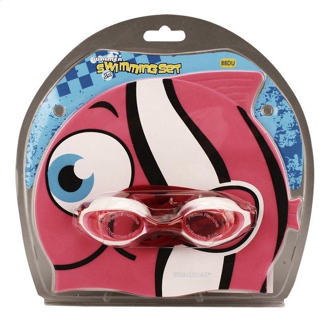 Afbeelding van Zwemmuts Vis met zwembril roze from DreamLand