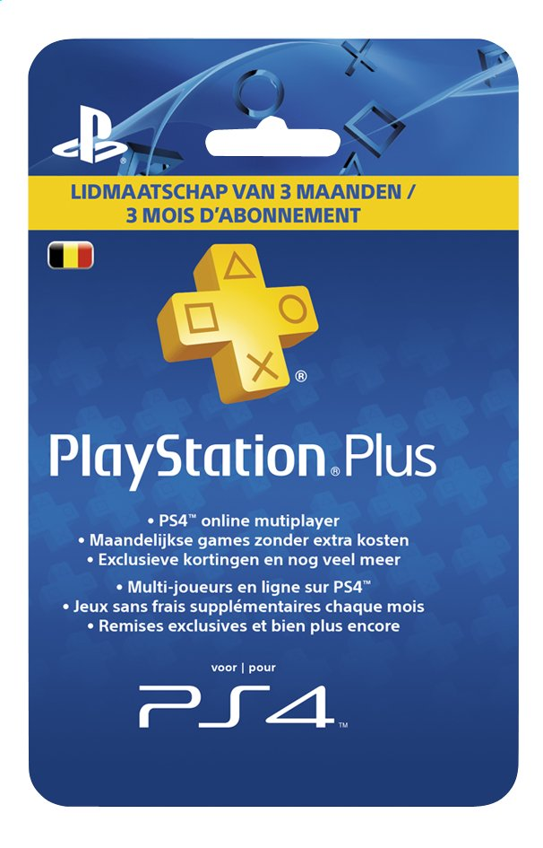 Afbeelding van PlayStation Plus Network Card 3 maanden from DreamLand