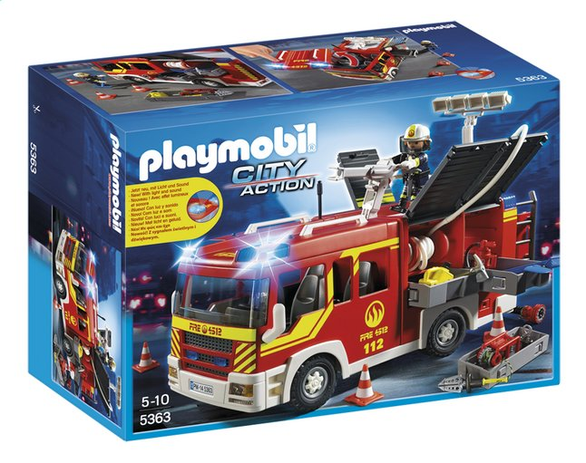 Afbeelding van Playmobil City Action 5363 Brandweer pompwagen from DreamLand