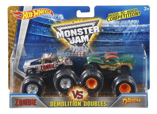Afbeelding van Hot Wheels Monster Truck Demolition Doubles Zombie VS Dragon from DreamLand