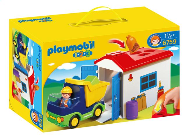 Afbeelding van Playmobil 1.2.3 6759 Vrachtwagen met garage from DreamLand