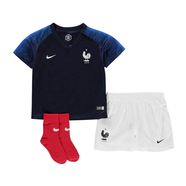 Afbeelding van Nike voetbaloutfit Breathe France FFF Home from DreamLand