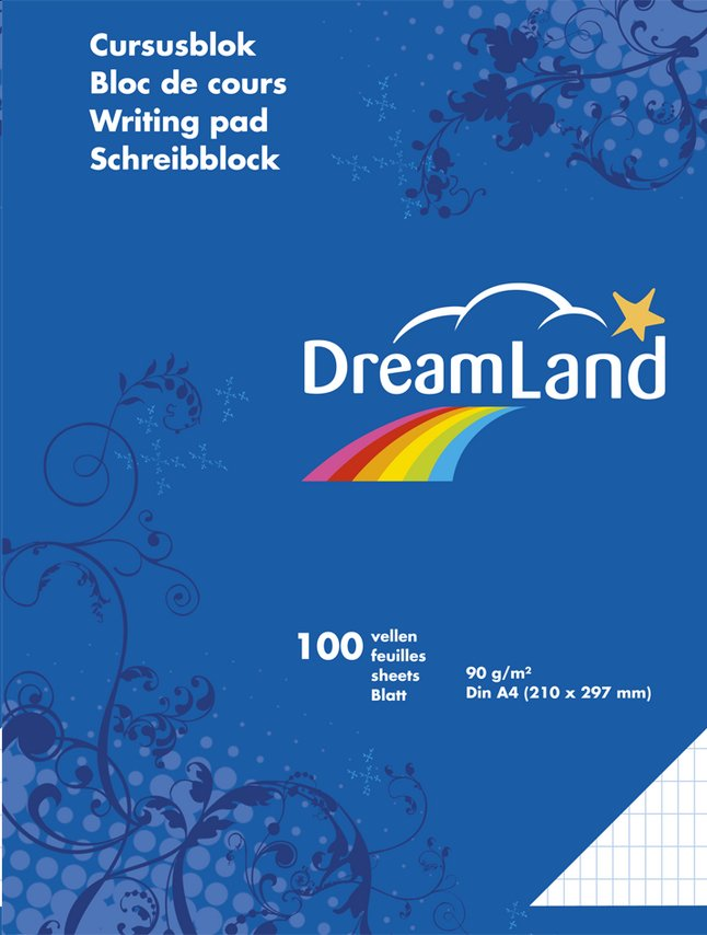 Afbeelding van DreamLand cursusblok A4 commercieel geruit - 5 stuks from DreamLand