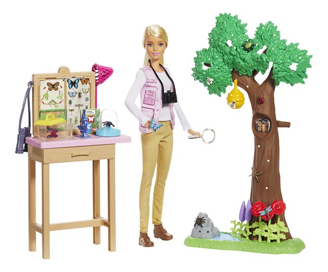Barbie speelset Careers National Geographic Entomoloog