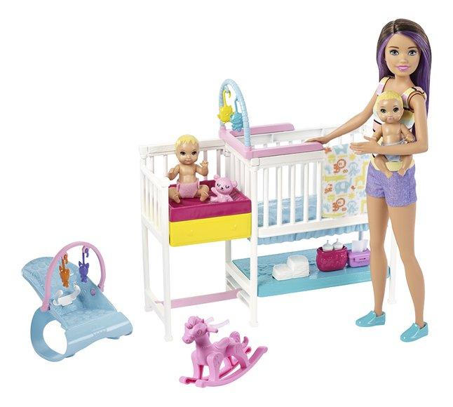 Afbeelding van Barbie speelset Babysitter Skipper - Tweeling met kinderkamer from DreamLand