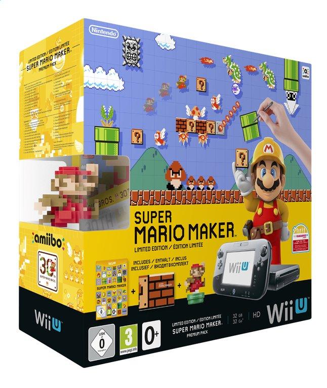 Image pour Wii U console Premium Pack 32 Go noir + Super Mario Maker FR/NL à partir de DreamLand