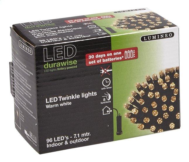 Lumineo slingerverlichting led 96 lampjes warm wit   DreamLand