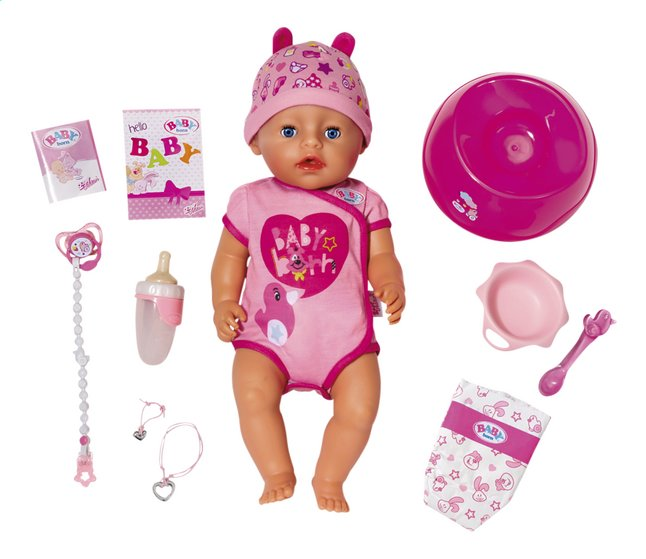 BABY born interactieve pop Soft touch Meisje roze 43 cm