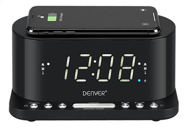 Denver radio-réveil CRQ-110 avec chargeur sans fil noir