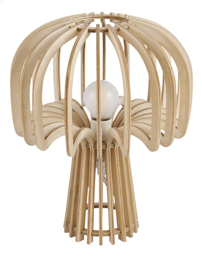 Lampe de bureau Leitmotiv Globular Mushroom natural wood