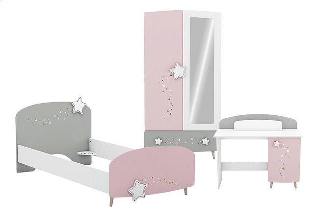 Image pour Chambre 3 éléments Stella lit + garde-robe 2 portes + bureau à partir de DreamLand