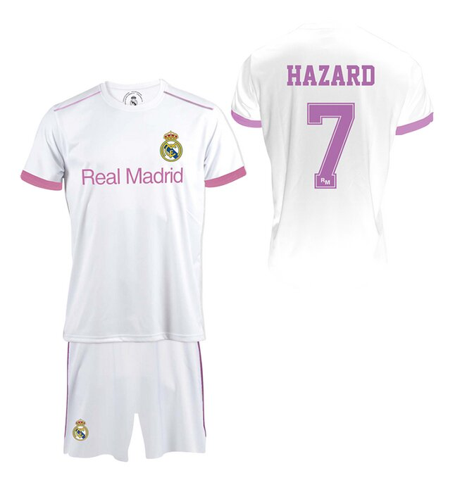 Voetbaloutfit Real Madrid Hazard wit/roze